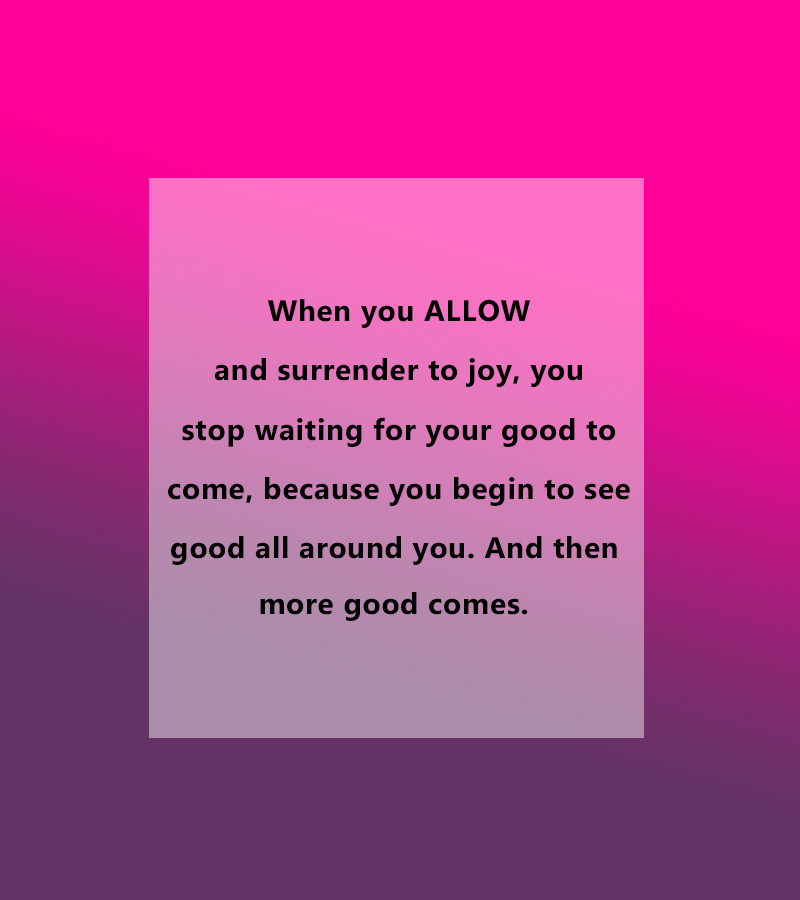 When you allow...